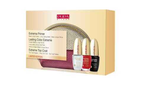 Extreme Primer & Lasting Color Extreme & Extreme Top Coat - PUPA Milano