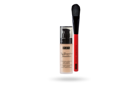 Kit No Trasfer Foundation & Foundation Brush - PUPA Milano