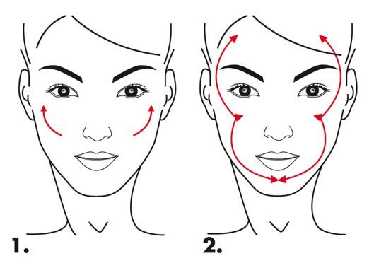 Pensulă oblică pentru blush, aplicare pudre bronzante și blush